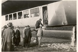 Passengers Boarding the Zeppelin LZ11 'Viktoria-Luise', Between 1912-14 Photographic Print by  German photographer