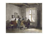 Children at Table Giclee Print by Peter Vilhelm Ilsted