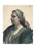 Woman in Krakowien Corset, 1914 Giclee Print by Leon Wyczolkowski