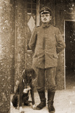German Army Feldwebel (Sergeant) with a Dog, 1914-18 Photographic Print by  German photographer