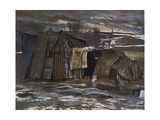A Lean-To, from British Artists at the Front, Continuation of the Western Front, Part Four, Eric… Giclee Print by Eric Henri Kennington
