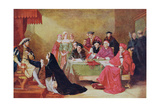 The Trial of Catherine of Aragon (1485-1536) Illustration from 'Hutchinson's Story of the British… Giclee Print by Henry Nelson O'Neil
