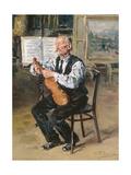 A Violin Maker, 1914 Giclee Print by Vladimir Egorovic Makovsky