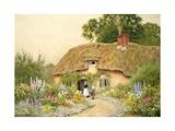 A Devon Cottage Giclee Print by Arthur Claude Strachan
