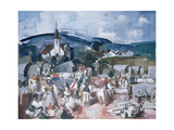 Fair in Transylvania, 1938 Giclee Print by Vilmos Aba Novak