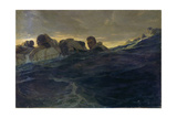 Survivors in the Sea from the Wreck of the 'Jacob Jones' Giclee Print by Francis Luis Mora