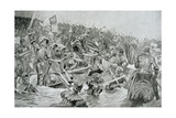 The Battle of Towton in 1461, Illustration from Hutchinsons 'Story of the British Nation' Giclee Print by Richard Caton Woodville