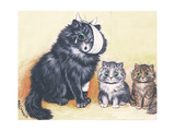 Cat-Astrophe! Giclee Print by Louis Wain
