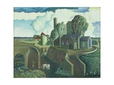 A Hilltop Church, 1930s Giclee Print by George Wright