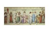 Great Women of Antiquity:Miriam, Rebecca, Semiramis, Penelope, Sappho, Cleopatra, Cornelia,… Giclee Print by Frederick Dudley Walenn