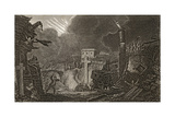 Commencement of the Earthquake in Messina in 1783 Giclée-tryk af Italian School