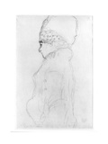 Lady with a Tall Hat, c.1917 Giclée-Druck von Gustav Klimt