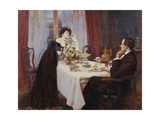 "The Anniversary, ""I Love Thee to the Level of Everyday's Most Quiet Need"" - Elizabeth Barrett… Giclee Print by Albert Chevallier Tayler"