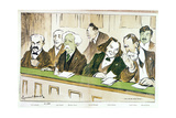 Caricature of Gabriel Faure (1845-1924) Presiding over the Jury Du Conserva Giclee Print by Emmanuel Barcet
