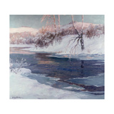 Snow Scene Giclee Print by Albert Julius Olsson