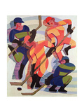 Hockey Players, 1934 Giclee Print by Ernst Ludwig Kirchner
