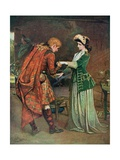 Prince Charlie's (1720-88) Farewell to Flora Macdonald (1722-90) Illustrati Giclee Print by George William Joy