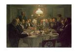 An Artist's Gathering, 1903 Giclee Print by Viggo Johansen