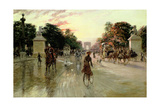 The Champs Elysees, Paris Giclee Print by Georges Stein