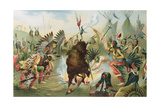 War Dance of the Sioux, from 'The History of Mankind' by Prof. Friedrich Ratzel, Pub. in 1904 Giclee Print by Rudolf Cronau