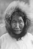 An Old Woman from Point Barrow, Alaska, 1921-24 Photographic Print by Knud Rasmussen