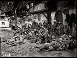 Soldiers Resting in a Camp Photographic Print by Jacques Moreau