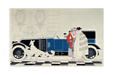 The New 6 Cylinder Renault, c.1920 Giclee Print by René Vincent