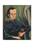 Portrait of Lasjos Kassak (1887-1967) Giclee Print by Tihonyi Lajos