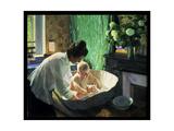Morning, 1910 Giclee Print by Boris Mihajlovic Kustodiev