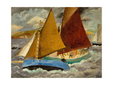 Yacht Race at Portscato, Cornwall, 1928 Giclee Print by Christopher Wood