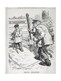 Bravo Belgium! from 'Punch' Magazine, Vol CXLVII P.143, Pub. August 12th, 1914 Giclee Print by Frederick Henry Townsend