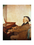 Richard Wagner (1813-83) Composing Giclee Print by Harry Everett Townsend