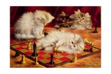 Cats with a Chess Board Giclee Print by Agnes Augusta Talboys