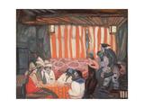 Cabaret II, 1918 Giclee Print by Boris Dmitrievich Grigoriev
