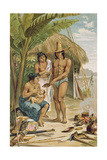 Indian Household in East Brazil, from 'The History of Mankind' by Prof. Friedrich Ratzel, Pub. in… Giclee Print by Johann Moritz Rugendas