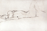 Nude Woman in Bed, c.1914 Giclée-Druck von Gustav Klimt