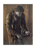 Raider with Cosh, from British Artists at the Front, Continuation of the We Giclee Print by Eric Henri Kennington