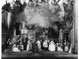 Scene from 'Masques et Bergamasques' by Gabriel Faure (1845-1924) at the Opera Comique in Paris,… Photographic Print by  Sabourin