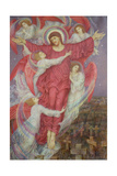 The Red Cross (Allegory of Flanders War Graves), c.1916 Giclee Print by Evelyn De Morgan