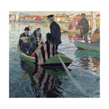 Church Goers in a Boat, 1909 Giclee Print by Carl Wilhelm Wilhelmson