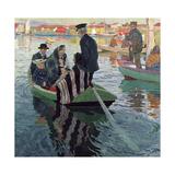 Church Goers in a Boat, 1909 Giclee Print by Carl Wilhelm Wilhelmson