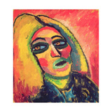 Portrait of a Woman, 1912 Giclee Print by Alexej Von Jawlensky