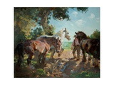Going to Pasture Giclee Print by Dorothy Adamson