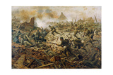 The Territorials at Pozieres on 23rd July 1916, 1917 Giclee Print by William Barnes Wollen
