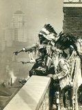 Blackfoot Indians on the Roof of the McAlpin Hotel, Refusing to Sleep in their Rooms, New York City Photographic Print by  American Photographer