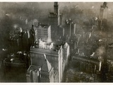 Aerial Photo of Downtown Manhattan, Taken from the LZ 127 Graf Zeppelin, New York 1928 Photographic Print by  German photographer