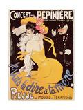 Poster for the Concert de La Pepiniere, 1902 Giclee Print by Jules-Alexandre Grün