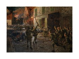 Landrecies, 25th August 1914, 1915 Giclee Print by William Barnes Wollen