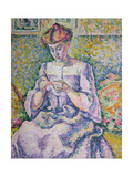 Woman Crocheting, 1908 Giclee Print by Lucie Cousturier