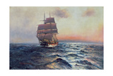 Sailing Ship at Sea, c.1910 Giclee Print by Alfred Serenius Jensen